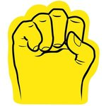 Foam Fist Hand - Yellow