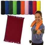 Fringed Cotton Rally Towel 11x18 -