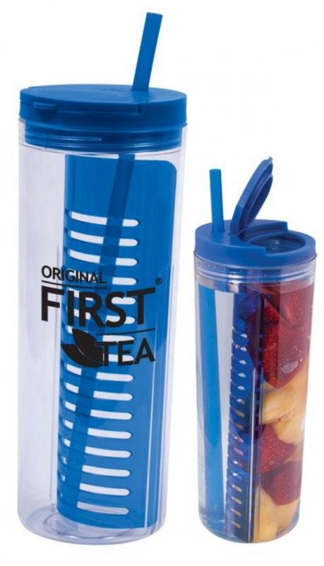 Main Product Image for Water Bottle with Fruit Infusion Compartment and Straw 20 oz.