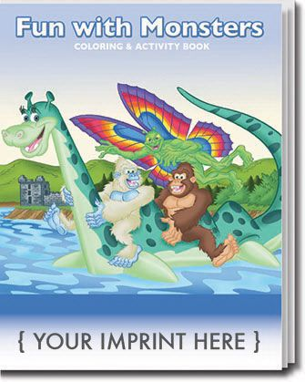 Main Product Image for Fun with Monsters Coloring Book