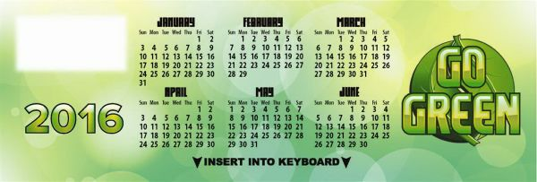 Main Product Image for Go Green Keyboard Calendar