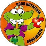 Good Nutrition Good Health Sticker Rolls -