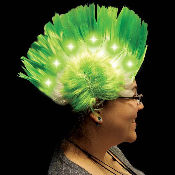 Light Up Wig Green Mohawk e093fc3a6