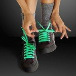 GREEN SHOELACES - GLOW IN THE DARK - Green