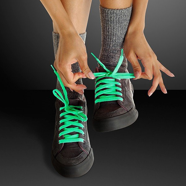 Main Product Image for Green Shoelaces - Glow In The Dark