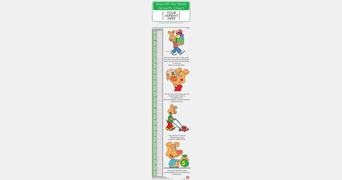 Grow With Your Money Growth Chart With Your Logo Imprintlogo