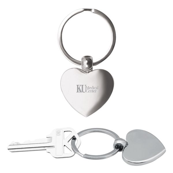 Main Product Image for Custom Imprinted Key Chain Metal Heart