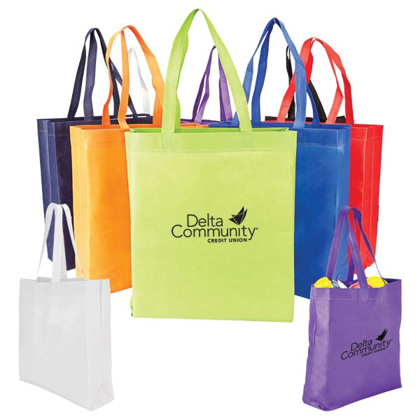 Main Product Image for Custom Imprinted Tote Bag Heat Sealed Non-Woven Tote with Gusset
