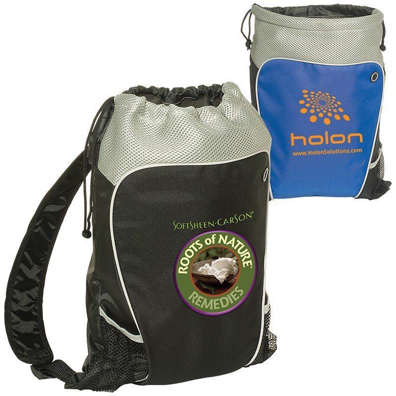 Main Product Image for Hiker's Two-Tone Drawstring Backpack