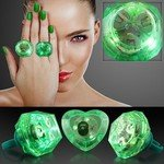 HUGE GEM ASSORTED STYLE LIGHTED RINGS - Green