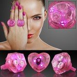 HUGE GEM ASSORTED STYLE LIGHTED RINGS - Pink