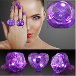 HUGE GEM ASSORTED STYLE LIGHTED RINGS - Purple