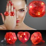 HUGE GEM ASSORTED STYLE LIGHTED RINGS - Red