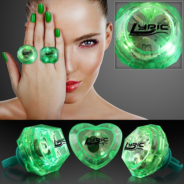 Main Product Image for Huge Gem Assorted Style Lighted Rings