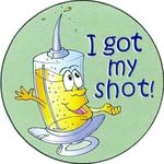 I Got My Shot Sticker Rolls -