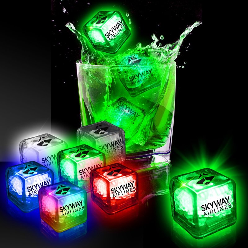 Main Product Image for Light Up Ice Cubes Imprinted Liquid Activated