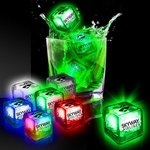 Imprinted Liquid Activated Light Up Ice Cubes -
