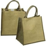 Junior Jute Tote - Brown