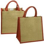 Junior Jute Tote - Red