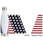 Keep 17 oz Vacuum Insulated Stainless Steel Bottle with Stoc - Stars and Stripes Blue