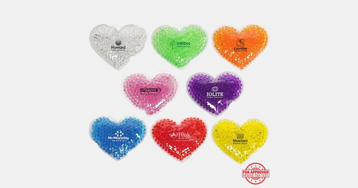 Large Heart Gel Hotcold Pack With Your Logo Imprintlogo