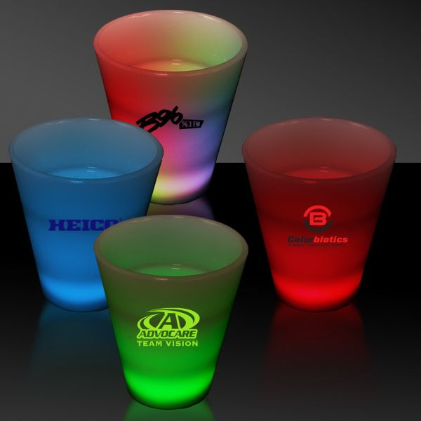 Main Product Image for Shooter Glass LED Neon Light Up Glow Look 2 oz