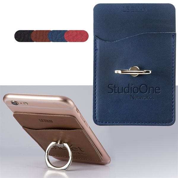 main product image for custom card holder wmetal ring phone stand - Personalized Card Holder