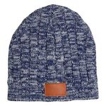 Leeman™ Heathered Knit Beanie - Heather Navy Blue