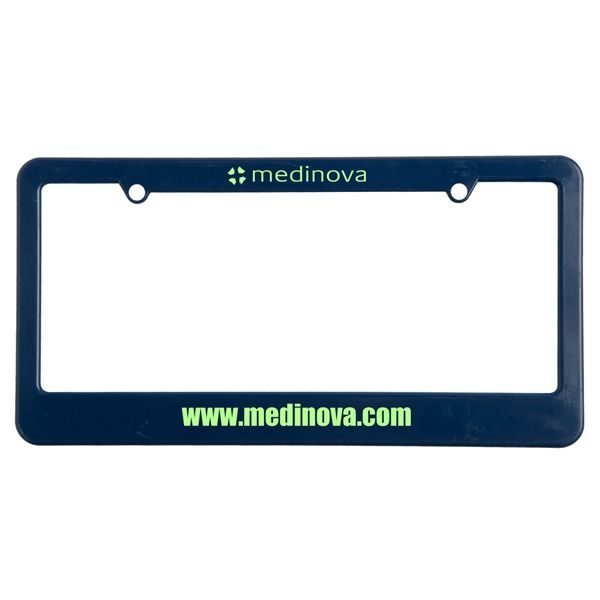 Main Product Image for License Plate Frame (2 Holes - Straight Bottom)