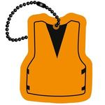 Life Vest Floating Key Tag - Orange
