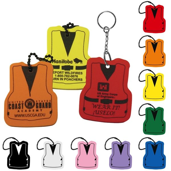 Main Product Image for Life Vest Floating Key Tag