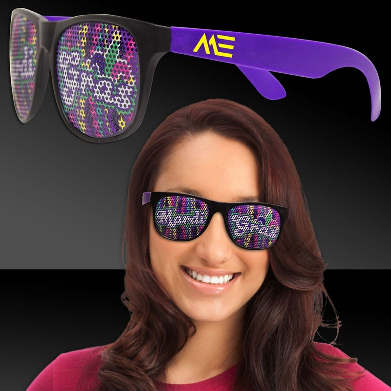 Main Product Image for Custom Sunglasses Mardi Gras Purple