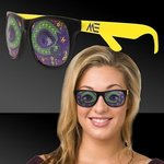 Buy Custom Sunglasses Mardi Gras Eyes Yellow Billboard