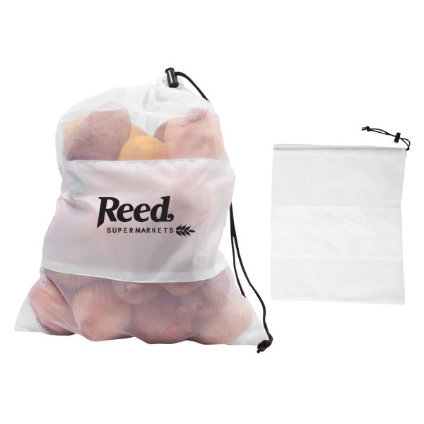 Main Product Image for Custom Imprinted Drawcord Bag Mesh Vegetable & Produce
