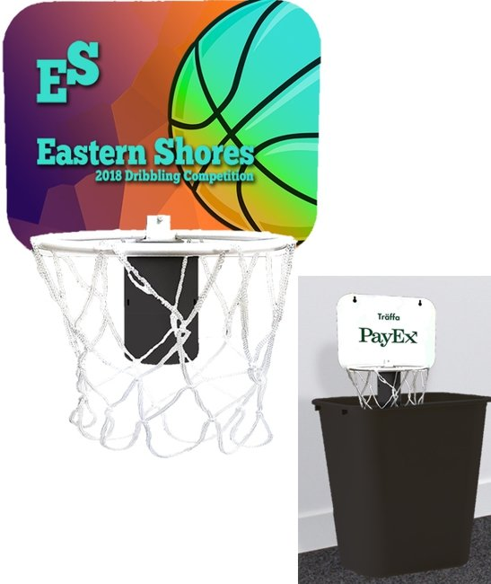 Main Product Image for Mini Basketball Backboard for Wastebasket