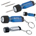 Buy Custom Imprinted Key Chain with Mini Flashlight Tool