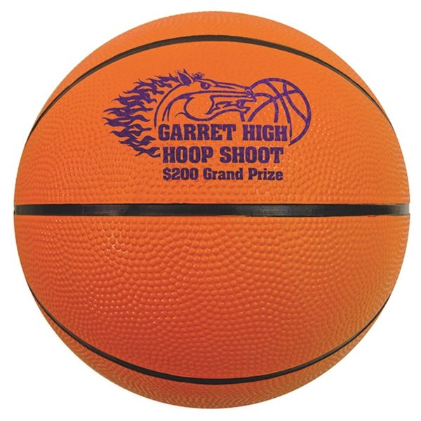 "Main Product Image for Mini Rubber Basketball 5"" Size 1"