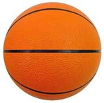 "Mini Rubber Basketball Two Color 5"" - Orange"