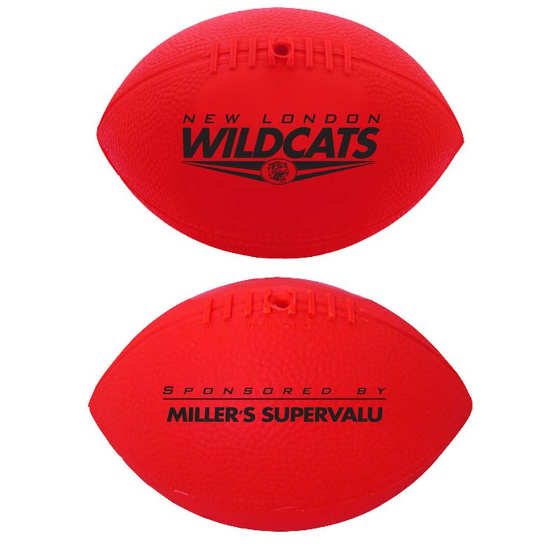 "Main Product Image for Mini Inflated Custom Vinyl Football - 7"" Two Sided Imprint"