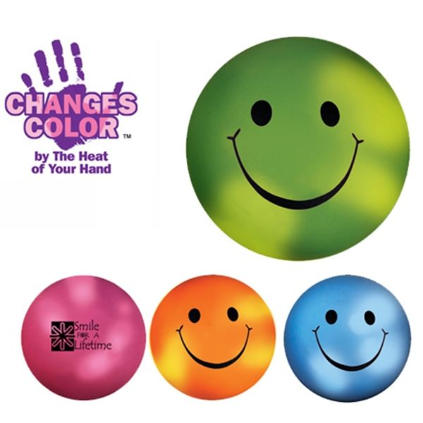 Main Product Image for Color Changing Smiley Face Stress Ball