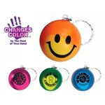 Buy Custom Imprinted Key Chain with Color Changing Smiley Face