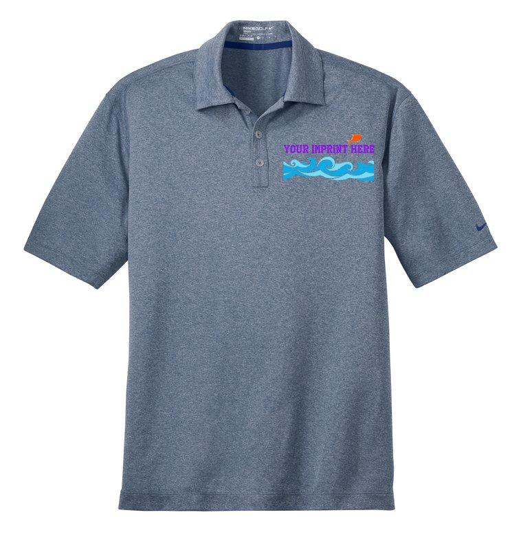 Custom Shirts Nike Golf Dri Fit Heather Polo Embroidered
