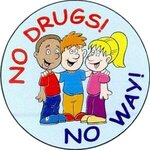 No Drugs No Way Sticker Rolls - Standard