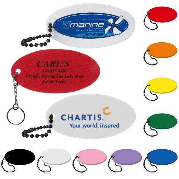 Main Product Image for Oval Floating Key Tag