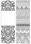 Patterns Coloring Bookmark - Standard