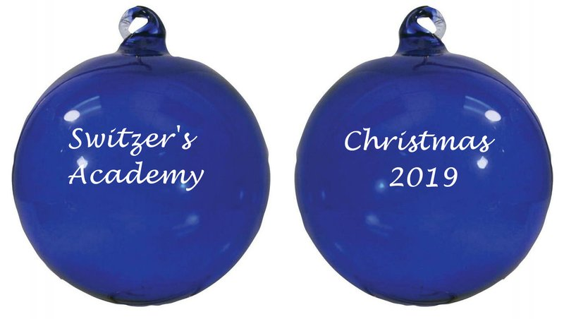 Main Product Image for Personalized Ornaments Hand Blown Glass - 2 sided imprint