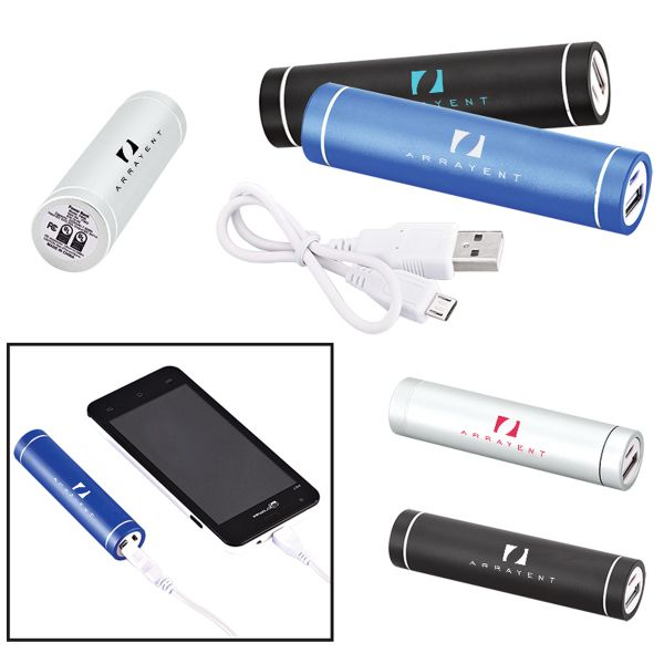 Main Product Image for Portable Cylinder Metal Power Bank Charger - UL Certified