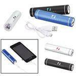 Portable Cylinder Metal Power Bank Charger - UL Certified -
