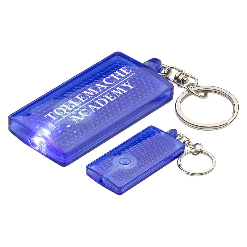 Main Product Image for Custom Imprinted Key Chain with Primary Touch reflector light