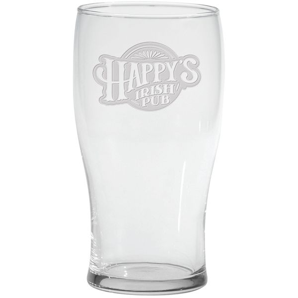 Main Product Image for Pub Glass  Deep Etched 20 oz